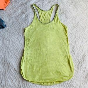 Lululemon neon yellow tank top size 2